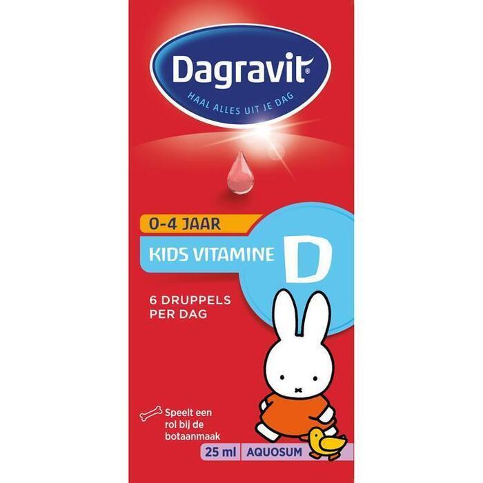 Kids vitamine D aquosum drup. 0-4 jaar (25ml)