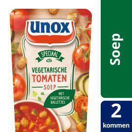Vegetarische tomatensoep met vegetarische balletjes (plastic zak, 0.57L)