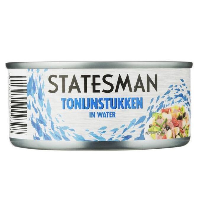 Tonijnstukken in water (160g)