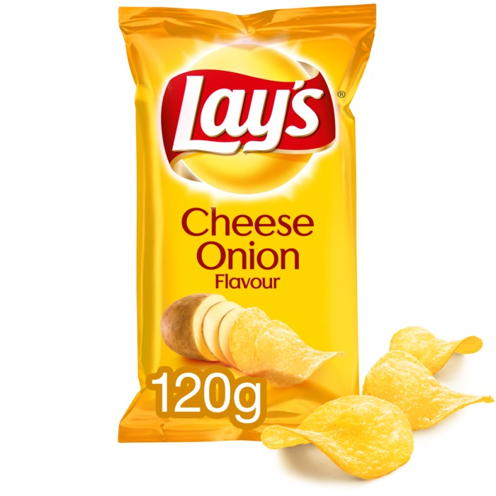 Cheese Onion chips (120 × 120g)