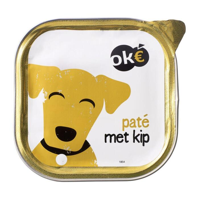 Ok€ Paté met kip voor de hond 300 gr (300g)