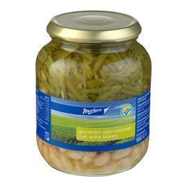 Gesneden Sperziebonen / Witte bonen (pot, 680g)