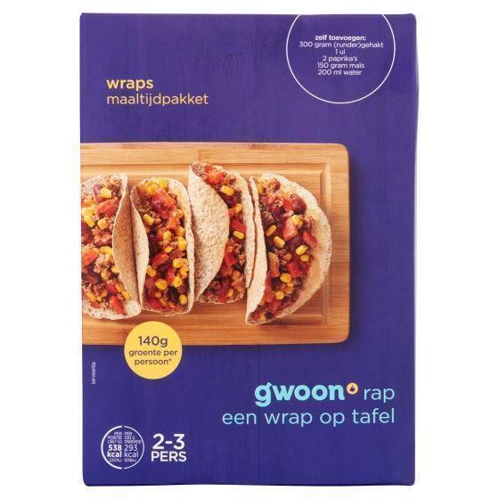 g'woon wraps maaltijdpakket 231gr (231g)