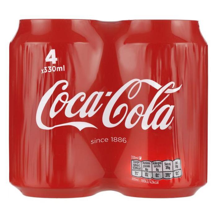 Coca-Cola blik 4-pack (blik, 4 × 33cl)