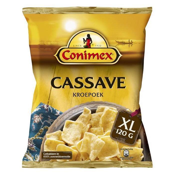 Conimex Kroepoek Cassave XL 4 Porties 120g (120g)