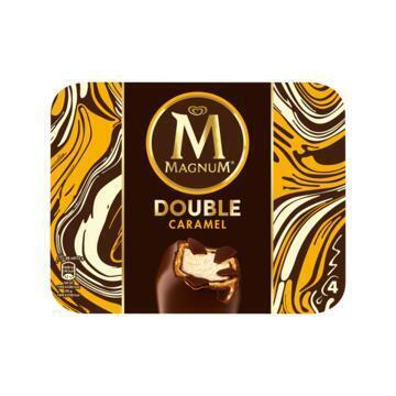 Magnum Double Caramel 4 st (Stuk, 292g)