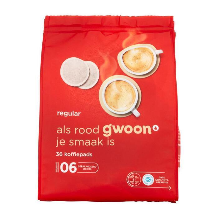 g'woon Koffiepads regular (36 × 252g)