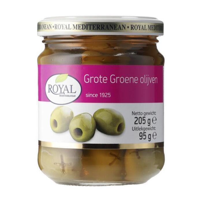 Royal Grote groene olijven (205g)