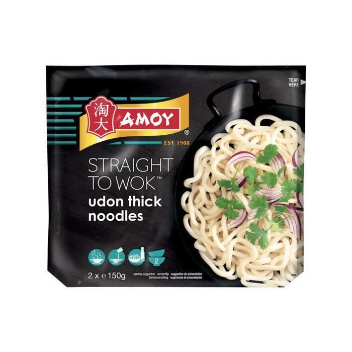 Amoy Straight to wok udon thick noodles (300g)