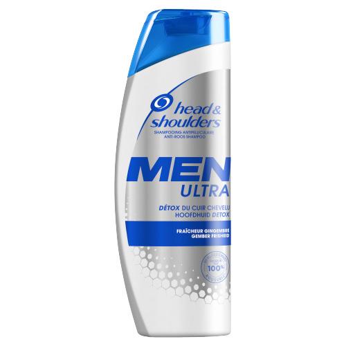 Head & Shoulders Men Ultra Hoofdhuid Detox Anti-roos Shampoo Voor Mannen, 450ml