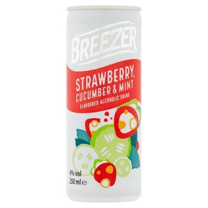 Bacardi Breezer strawberry cucumber mint (rol, 25 × 250ml)