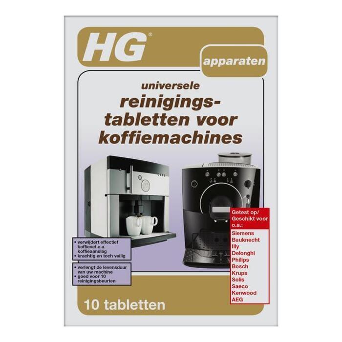 Reinigingstabletten voor koffiemachine (tabletten, 10 × 300g)