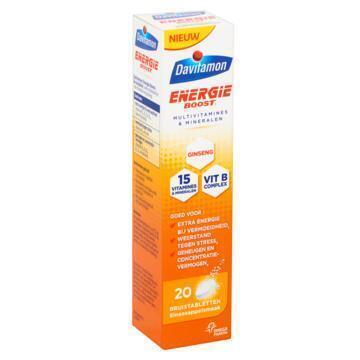 Davitamon Energie Boost Multivitamines & Mineralen Sinaasappelsmaak 20 Bruistabletten 79 g (79g)