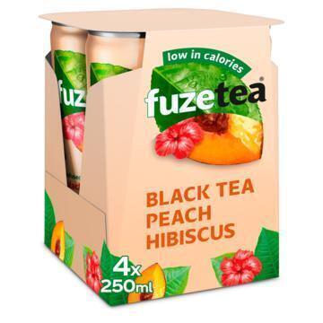 IJsthee Black Perzik Hibiscus (rol, 4 × 250ml)