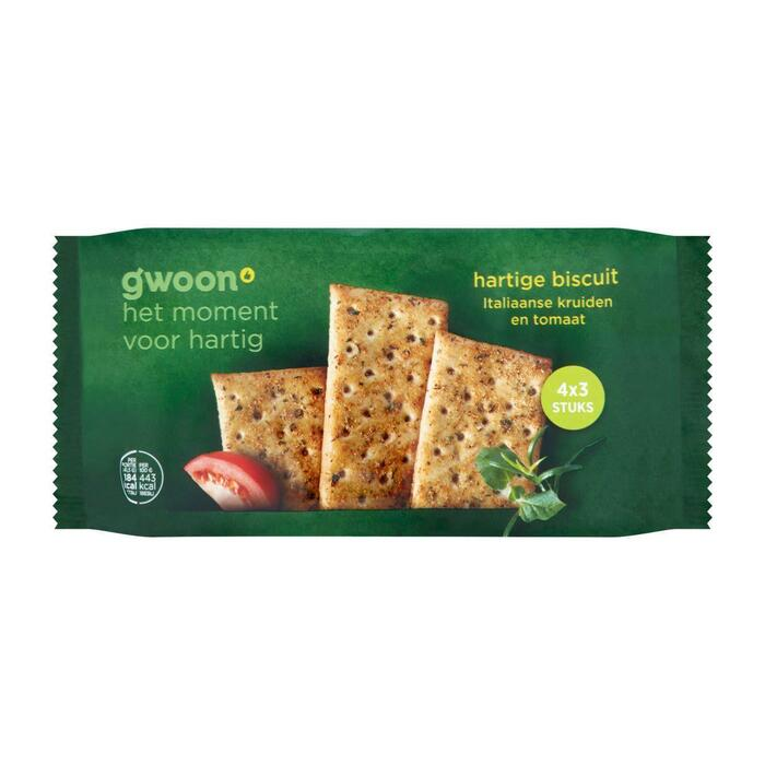 g'woon Hartige biscuit italiaanse kruiden (166g)
