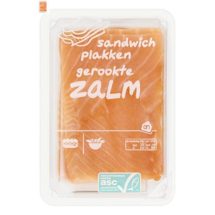 Ah, Zalm sandwich plakken gerookt (100g)
