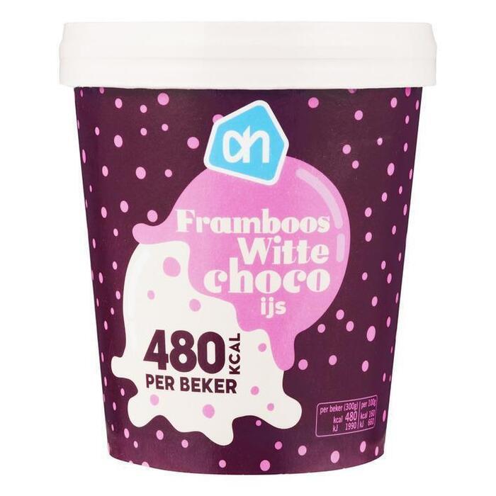 AH Framboos witte choco ijs (0.5L)