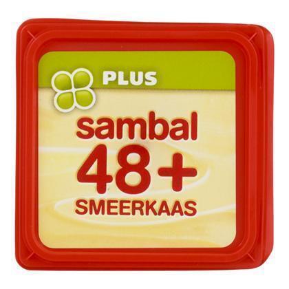 Smeerkaas sambal 48+ (kuipje, 100g)