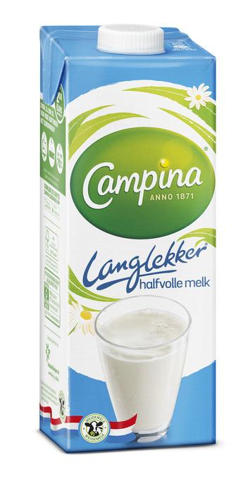 Campina Langlekker Melk Halfvolle 1 l Pak met punt (1L)