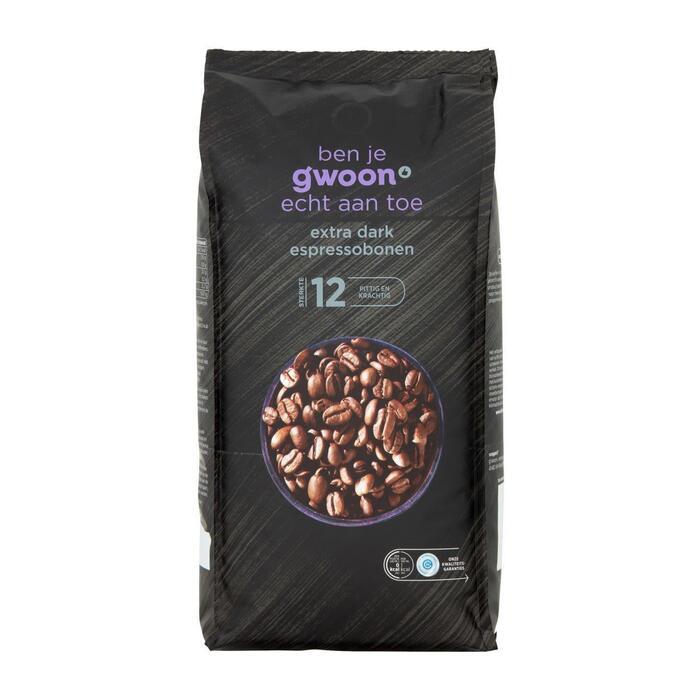 g'woon Espressobonen extra dark (1kg)