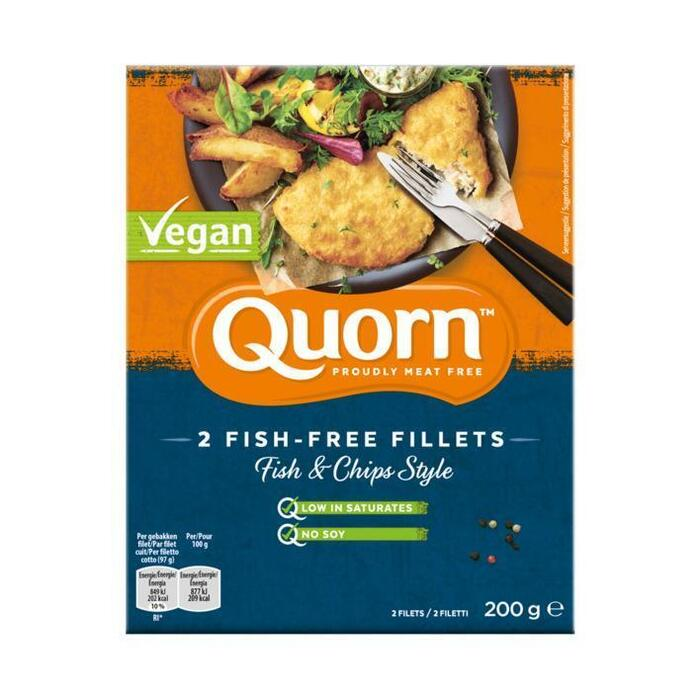 Quorn 2 Fish-Free Fillets Fish&Chips (200g)