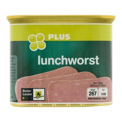 Lunchworst beter leven 1 ster (340g)