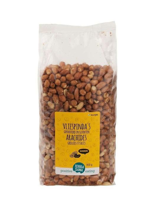 Vliespinda's geroosterd met zout -voordeelpak- TerraSana 800g (800g)
