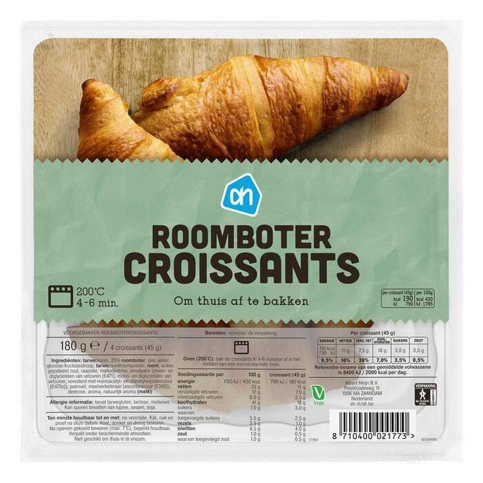 Roomboter croissants (afbak)