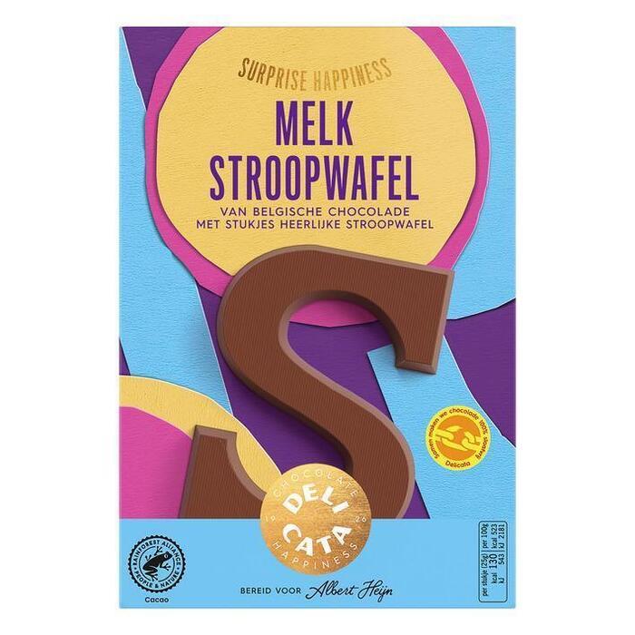 Delicata Chocoladeletter melk stroopwafel (65g)