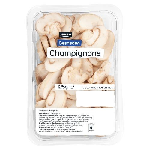 Jumbo Gesneden Champignons 125 g (125g)