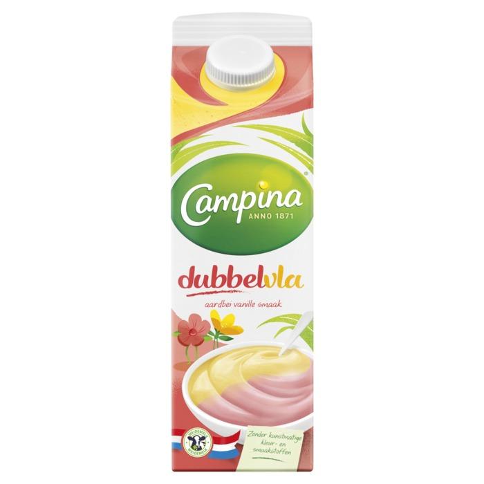 Dubbelvla aardbei-vanille (1L)