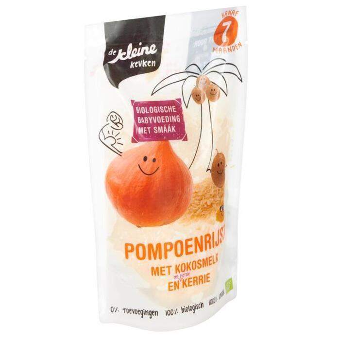 De Kleine Keuken Pompoenrijst met Kokosmelk en Kerrie vanaf 7 Maanden 160g (160g)