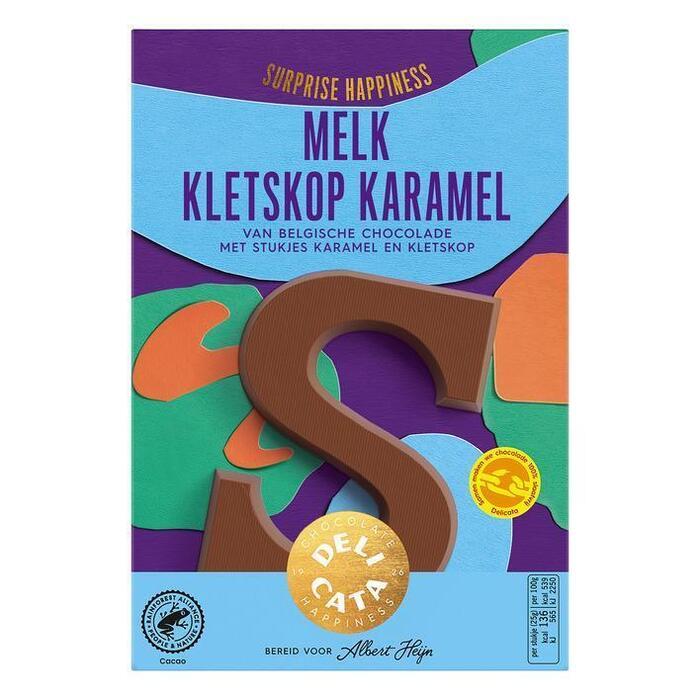 Delicata Chocoladeletter melk kletskop karamel (65g)