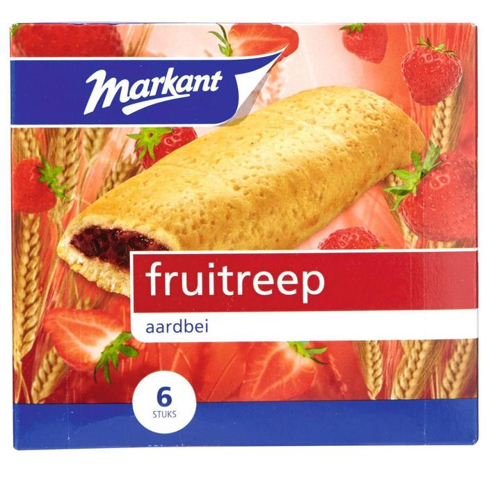 Markant Fruitreep Aardbei (200g)