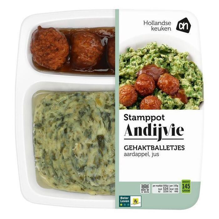 Hollandse stamppot andijvie (bak, 500g)