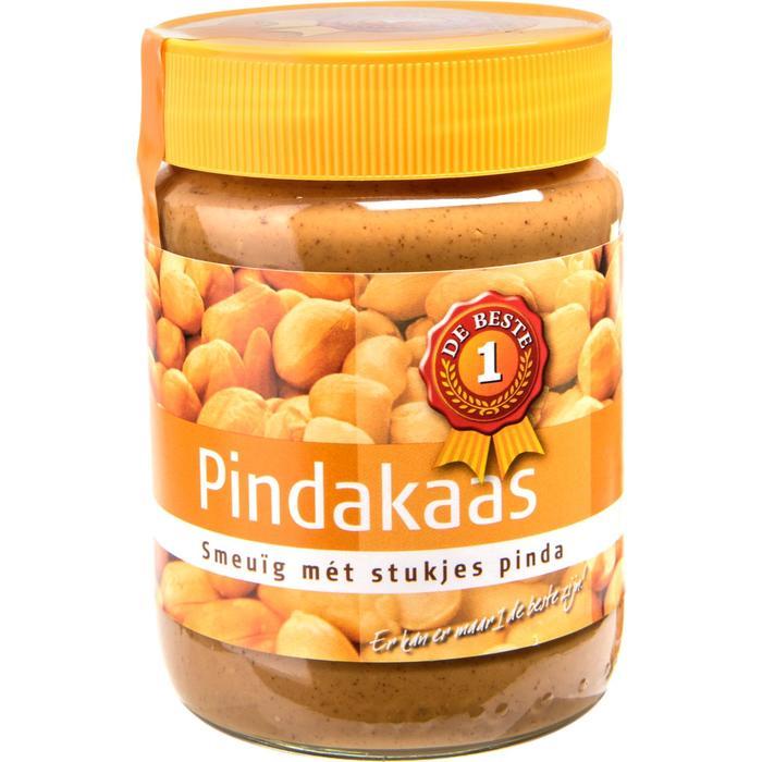 Pindakaas met stukjes pinda (600g)