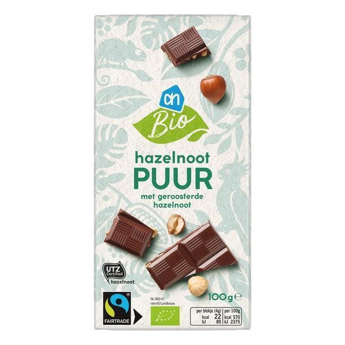 Pure Chocolade met Hazelnoot (wikkel, 100g)