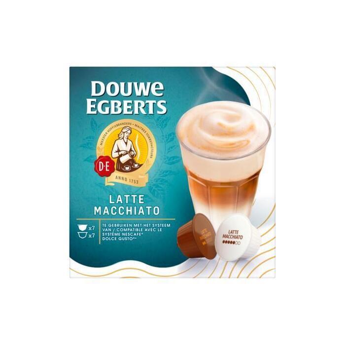 Douwe Egberts Koffiecups Latte Macchiato (14 × 165g)