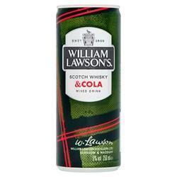 Tray William Lawson's Scotch & Cola blik 5% (250ml)