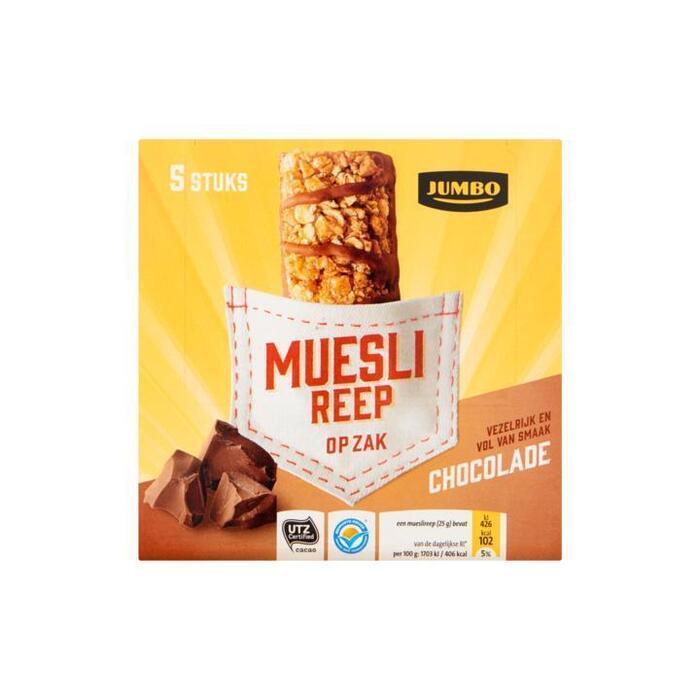 Jumbo Muesli Reep op Zak Chocolade (5 × 25g)