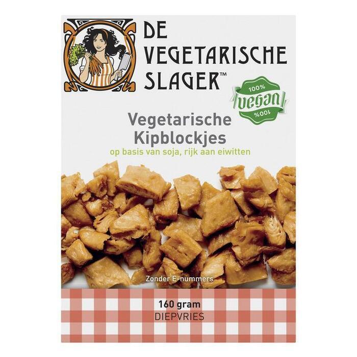 Vegetarische Slager Kipblockjes (doos, 160g)