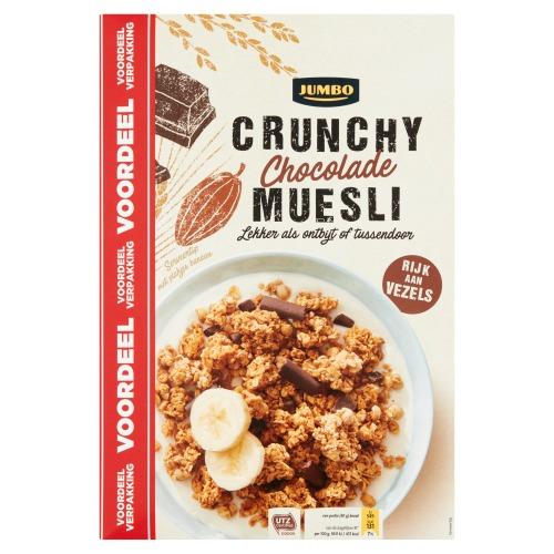 Jumbo Crunchy Chocolade Muesli Voordeelverpakking 900 g (900g)
