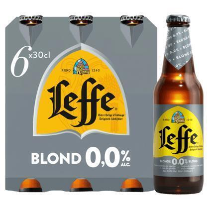 Leffe Blond 0.0% (rol, 6 × 30cl)