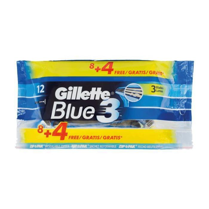 Gillette Blue3 Wegwerpscheermesjes Voor Mannen - Pak Van 12