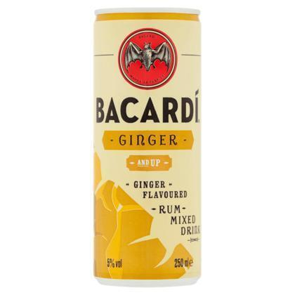 Bacardí Ginger and Up 250 ml (rol, 25 × 250ml)