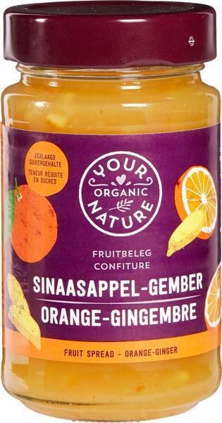 Sinsaasappel gember fruitbeleg (250g)