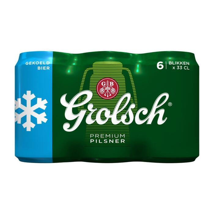 Grolsch Bier gekoeld blik 6 x 33 cl (6 × 1.98L)