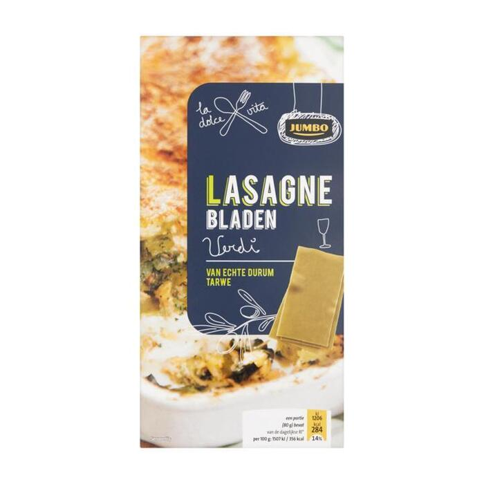Jumbo Lasagnebladen Verdi 250g (250g)