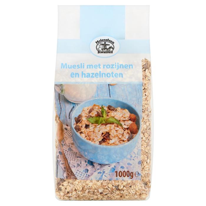 Kwaliteit Muesli met Rozijnen en Hazelnoten (zak, 1kg)