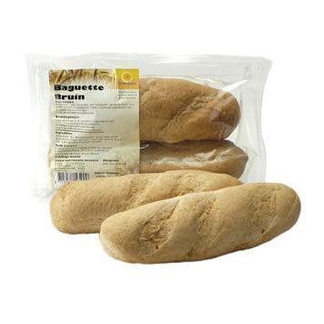 Baguette bruin (zak, 2 stuks) (130g)
